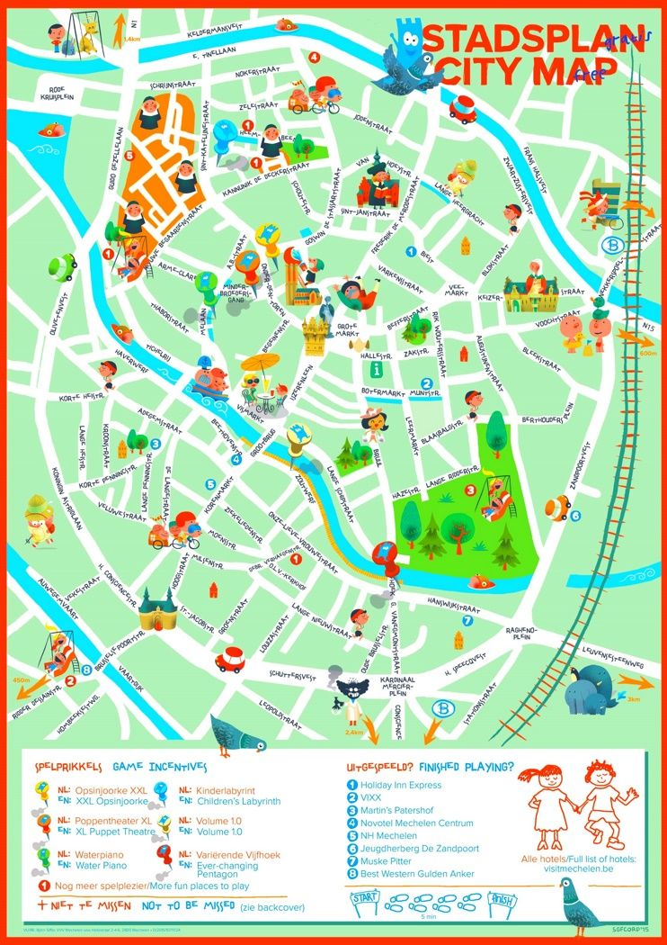 Mechelen map for kids Maps Pinterest Belgium and City