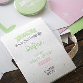 le pou - invitaciones y tarjetas - bautismos estampitas