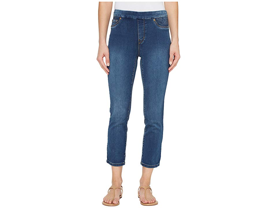 Tribal PullOn 25 Dream Jeans Capris in Retro Blue Retro Blue Womens Jeans Enjoy easy comfort and style when you adorn these stunning TRIBAL jeans Highrise capri boasts a...