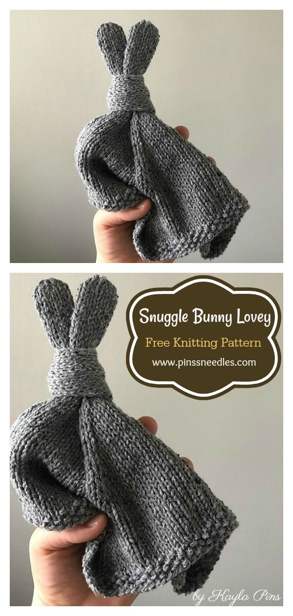 5 Easy Bunny Lovey Blanket Free Knitting Pattern