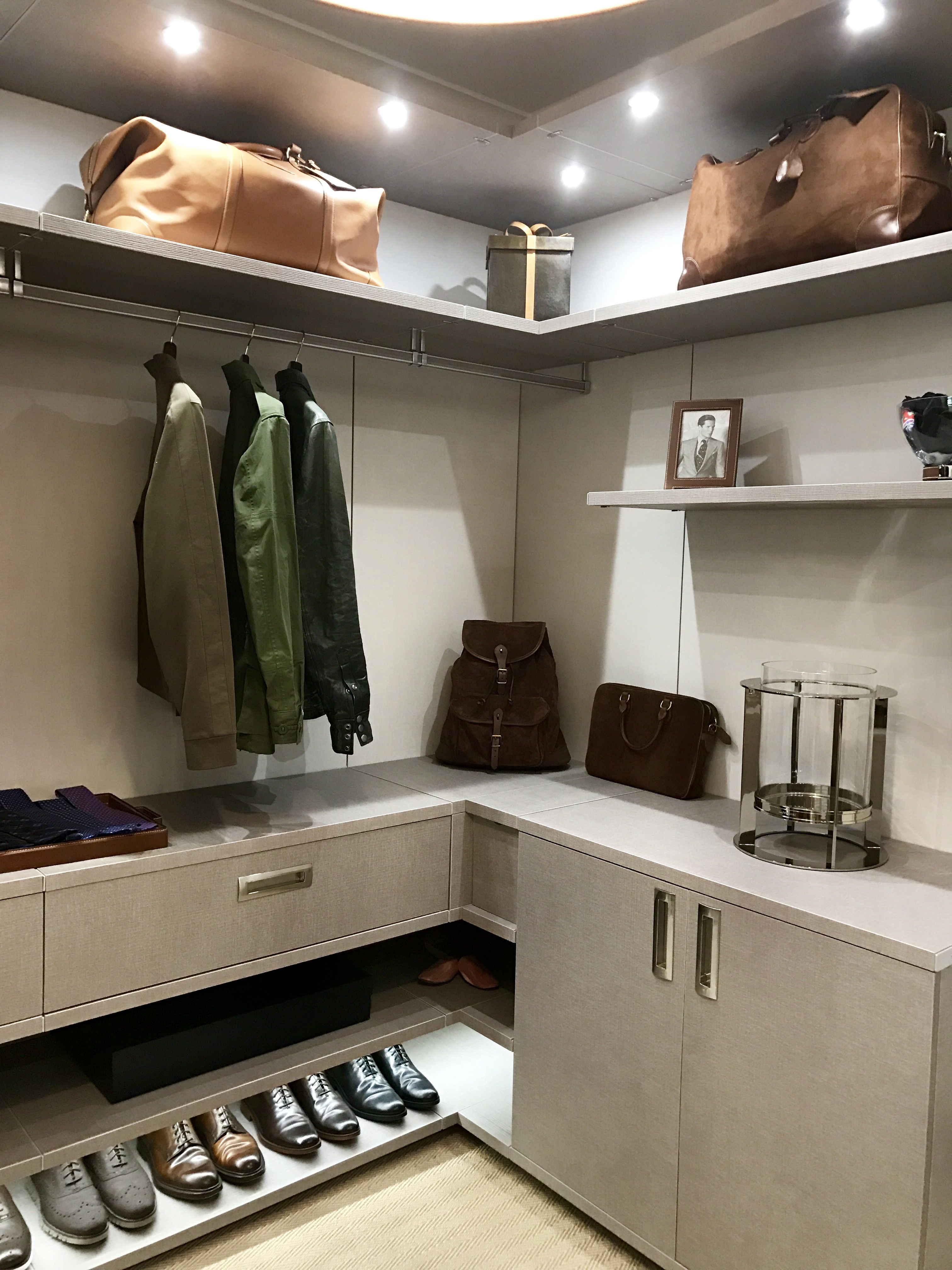Closet dressing room for a very stylish guy