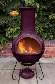 Purple Chimenea Chiminea Outdoor Fireplace Outdoor