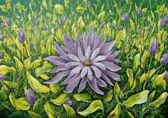 На цветочном лугу. | Живопись, Картины, Цветы