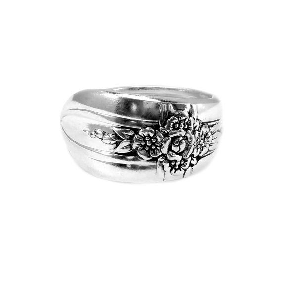 Triumph 1941 Vintage Silver Spoon Ring
