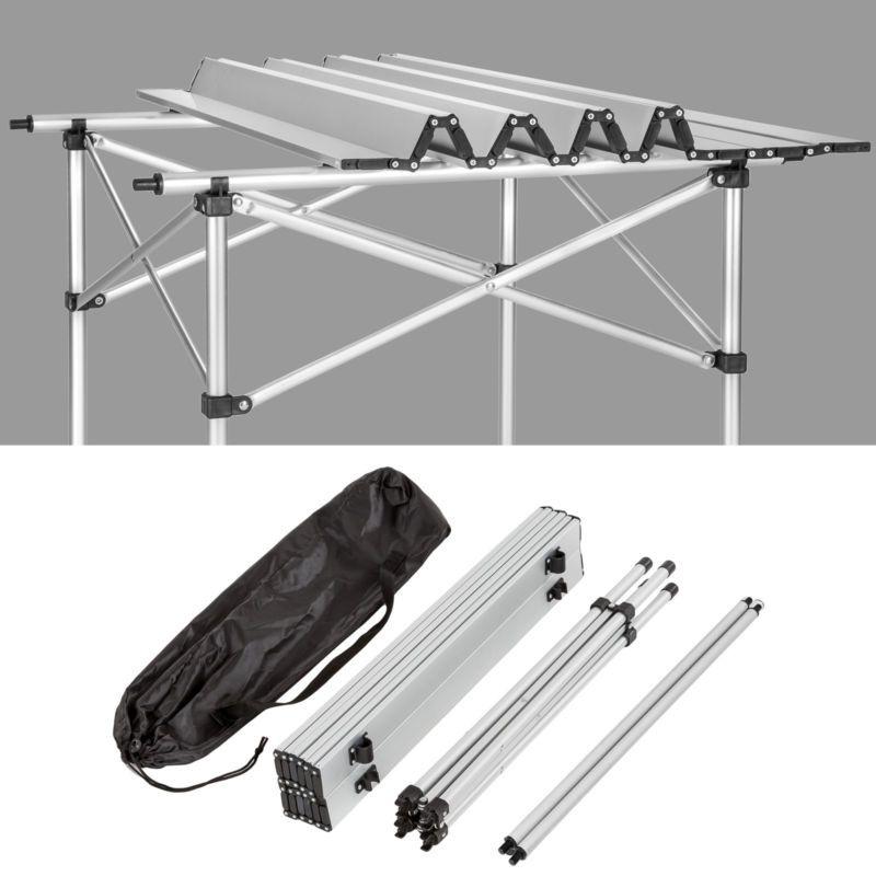 Aluminium Campingtisch Rolltisch Klapptisch Falttisch Gartentisch Klappbar Camping Tisch Campingtisch Klapptisch