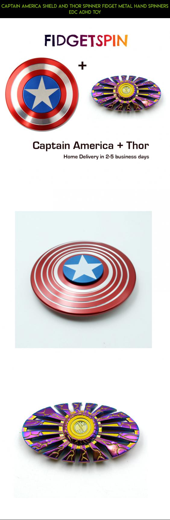 Captain America Shield And Thor Spinner Fidget Metal Hand Spinners Alumunium Edc Adhd Toy