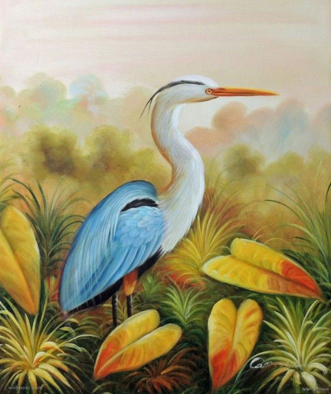 50 Beautiful Bird Paintings And Art Works For Your Inspiration