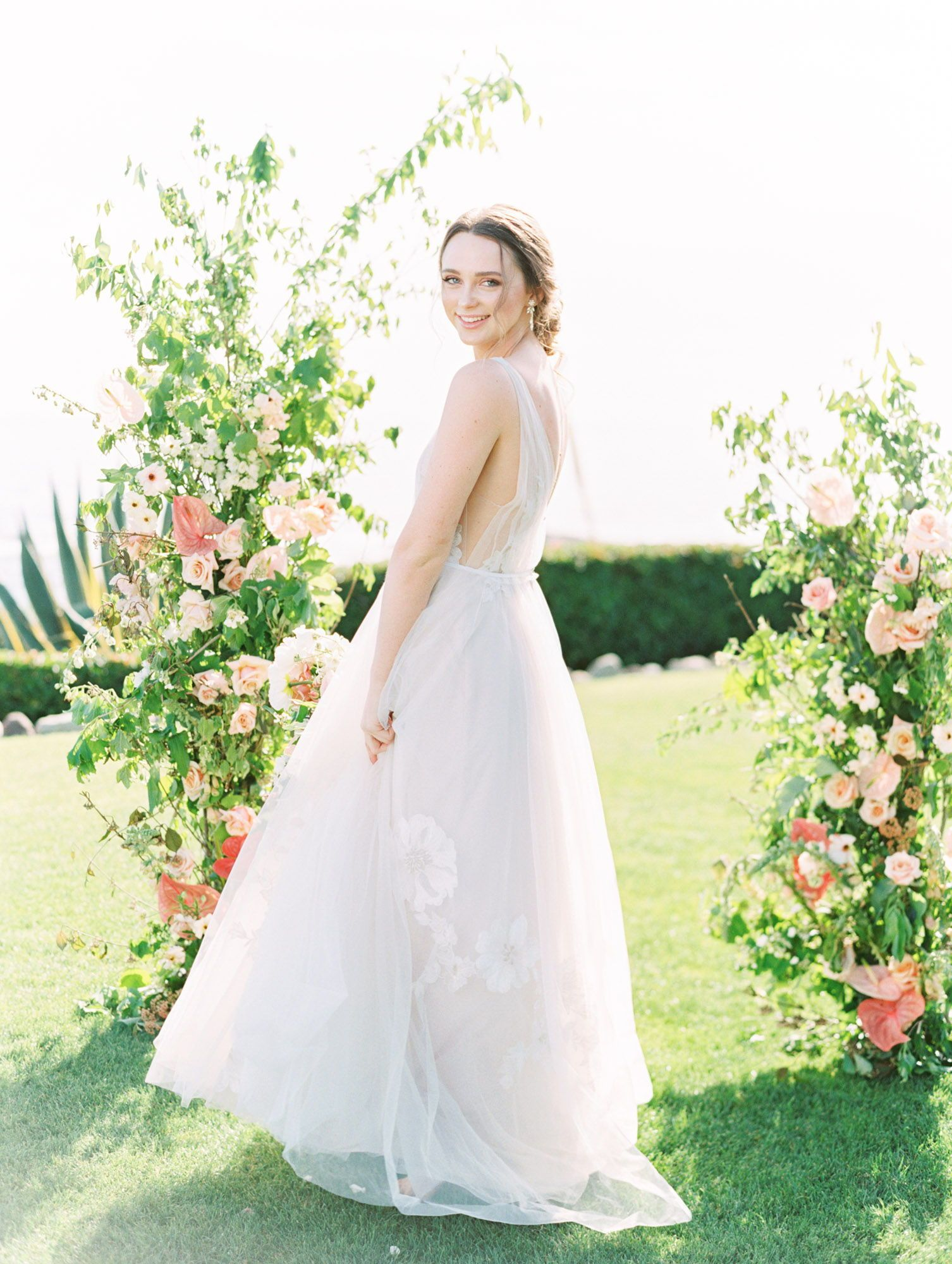 Ethereal Coastal Montage Laguna Beach Wedding Editorial Beach