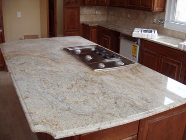 Colonial Cream Granite Countertops Kitchen Pinterest