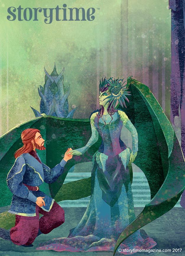 The Dragon Queen -  a fairy-tale baddie in Storytime Issue 36. With art by @alessandrafusi ~ STORYTIMEMAGAZINE.COM