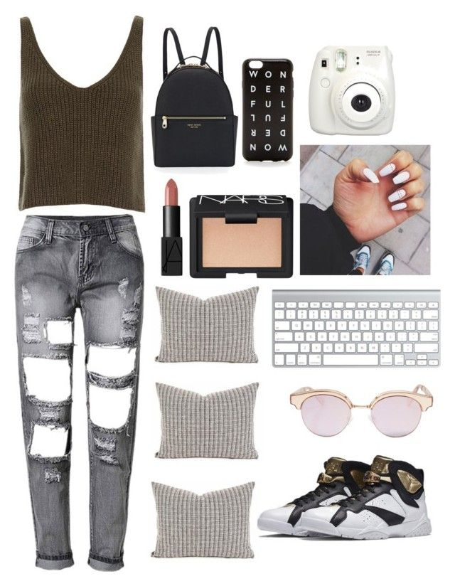"""..."" by papcie ❤ liked on Polyvore featuring Exclusive for Intermix, J.Crew, Henri Bendel, Le Specs and NARS Cosmetics"