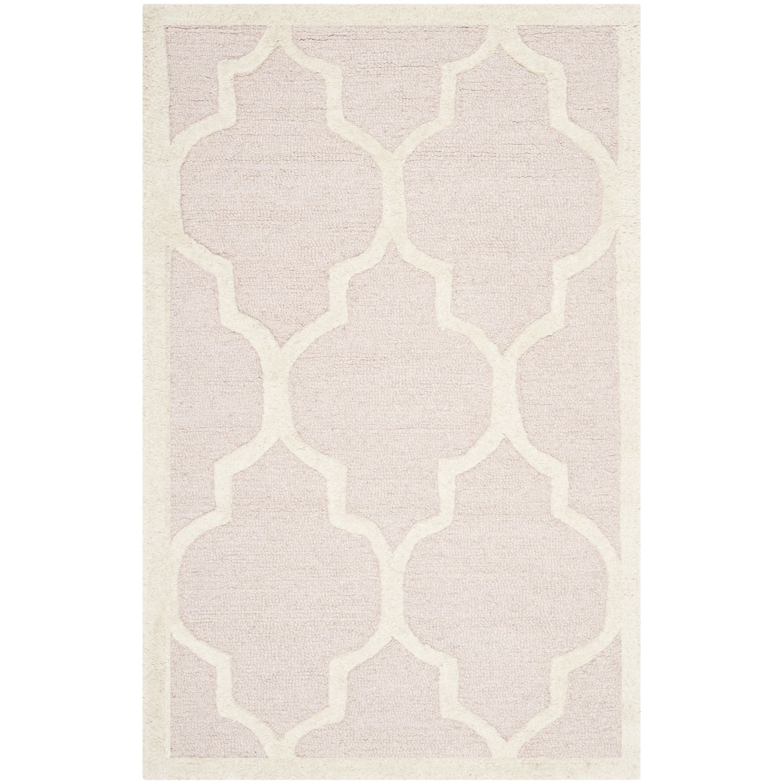 Safavieh Handmade Moroccan Cambridge Light Pink/ Ivory Wool Accent Rug (2' x 3') (CAM134M-2)