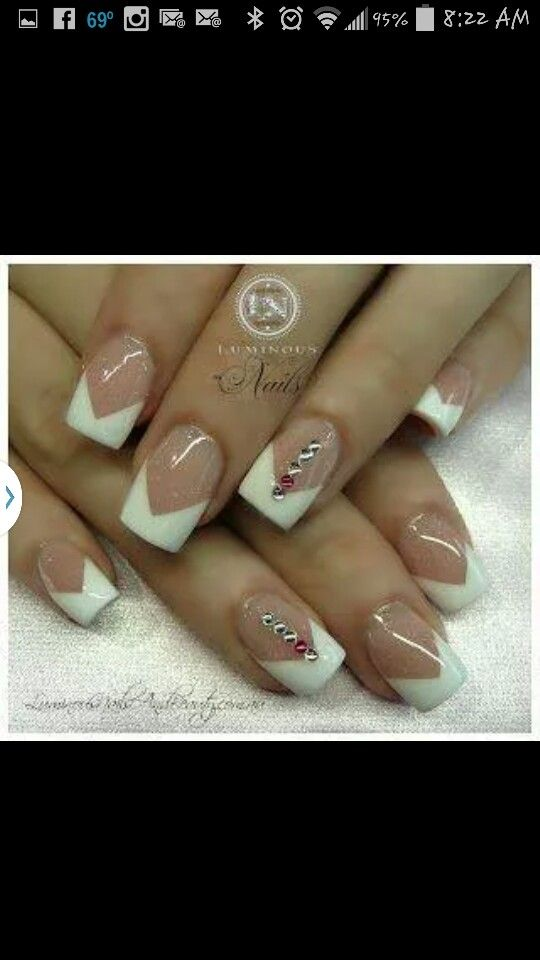 Victorian French with Rhinestones   Nail Art   Pinterest   Victorian ...