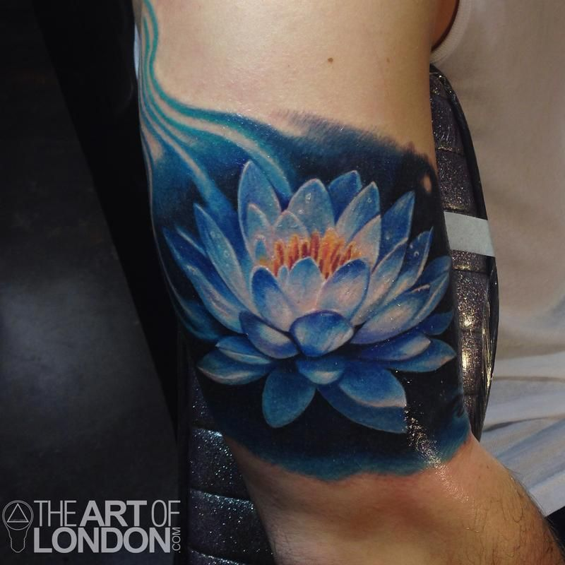 Blue lotus flower tattoo by london reese tattoos tattos pinte blue lotus flower tattoo by london reese tattoos more mightylinksfo
