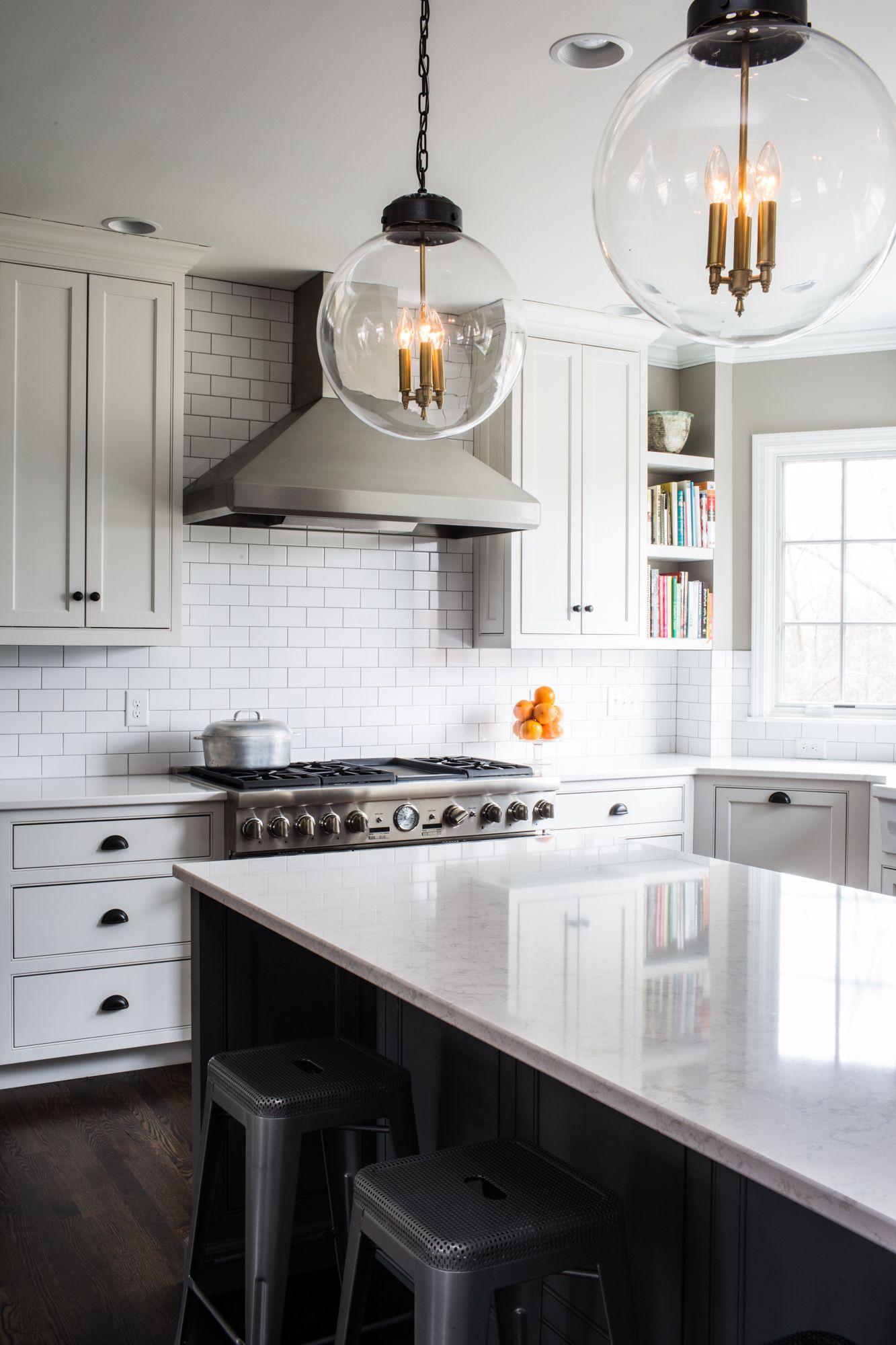 farmhouse kitchen with white countertops white subway tiles and grey cabinets kitchen white on farmhouse kitchen decor countertop id=13290