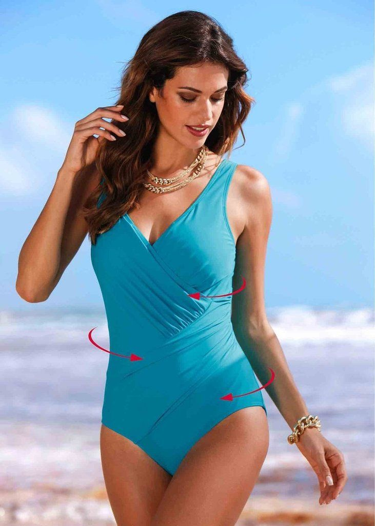 f3cd7182c1 Slimming Criss-Cross Drape Vintage-Style One-Piece Bathing Suit 5 Colors M-4XL  5 Colors-Loluxe