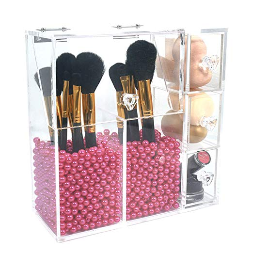 PuTwo Makeup Organizer With 2 Make Up Brush