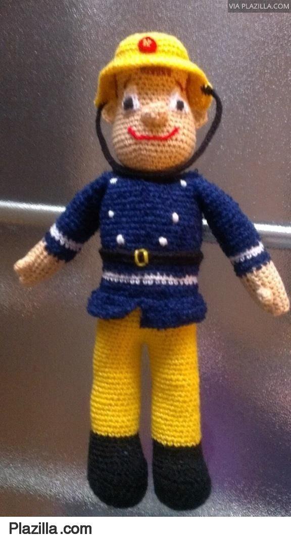 Patroon Brandweerman Sam Knit And Crochet Amigurumi Crochet