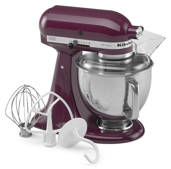 KitchenAid 5-Quart Tilt-Head Artisan Series Stand Mixer - KSM150PSBY    Artisan® Series model has a 325-watt motor, 5 quart stainless steel bowl with comfort handle, pouring shield and a tilt-back mixer head design that provides easy access to bowl and beaters.