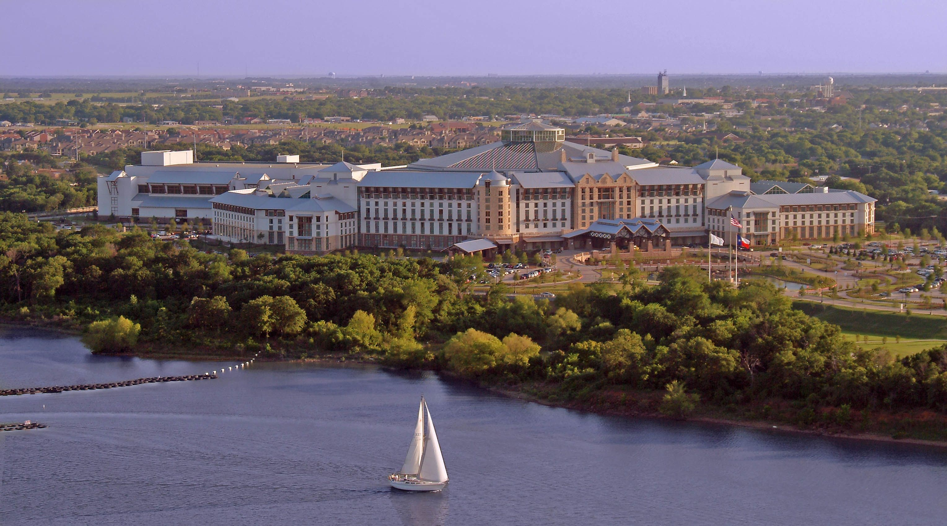 overlooking beautiful lake grapevine, the magnificent gaylord
