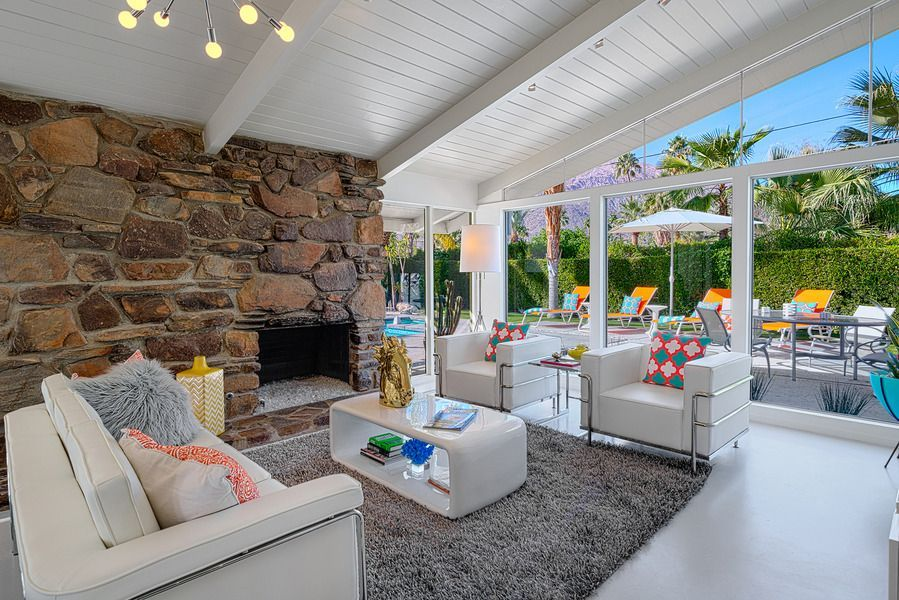 Palm Springs House Rental: Glam Gables! Mid-century Alexander ...