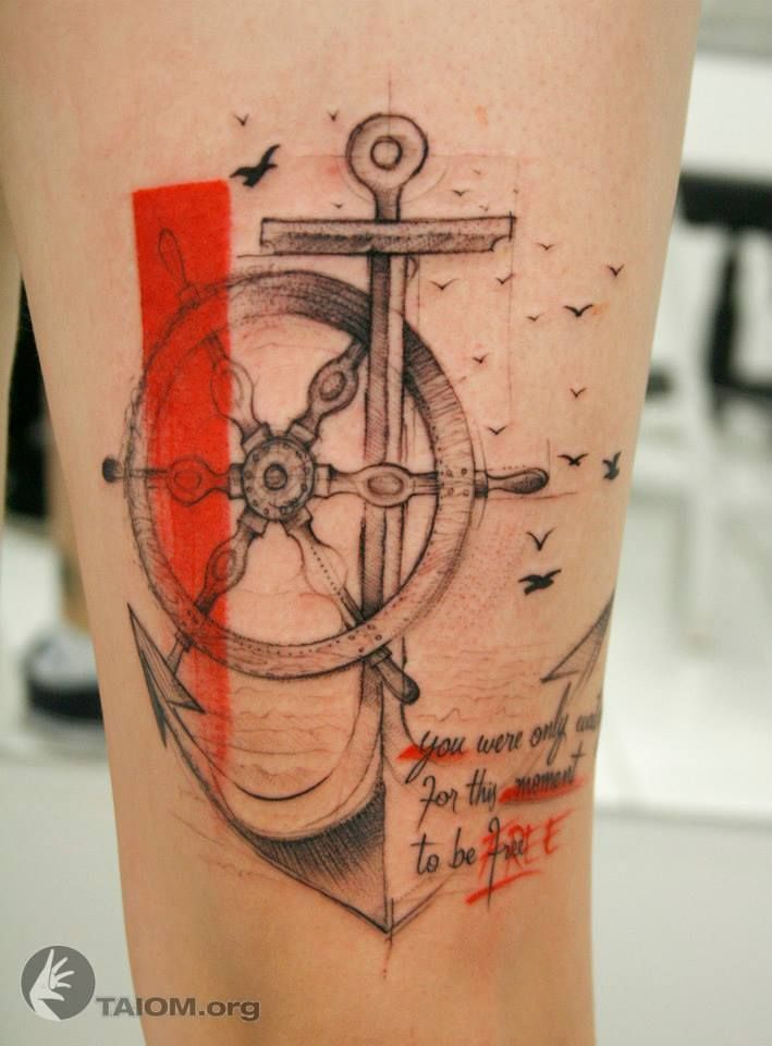 Pin De Liuba Vega En Body Art Tatuajes Nauticos Tatuajes