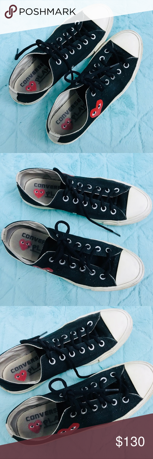 Converse Comme des Garcons black low 8M  10W First version that has been  completely sold 8a1f975b0