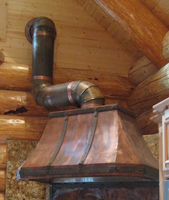 Rustic Custom Welded Copper Range Hood