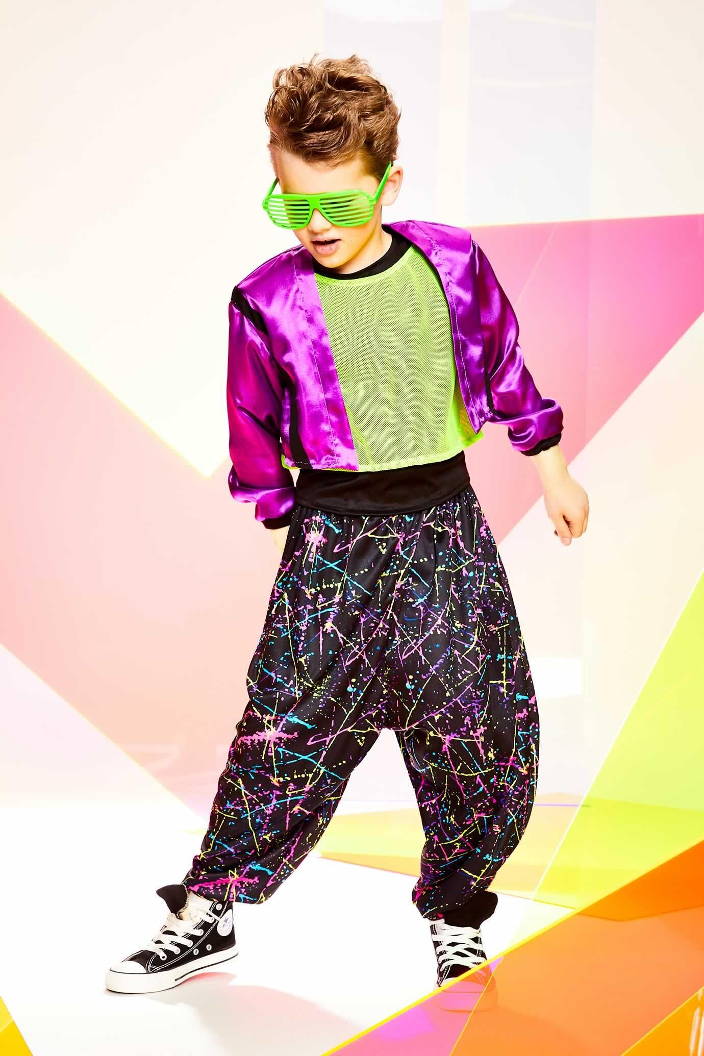 '80s Costume for Boys | 80s party outfits. 80s fashion kids. 80s costume