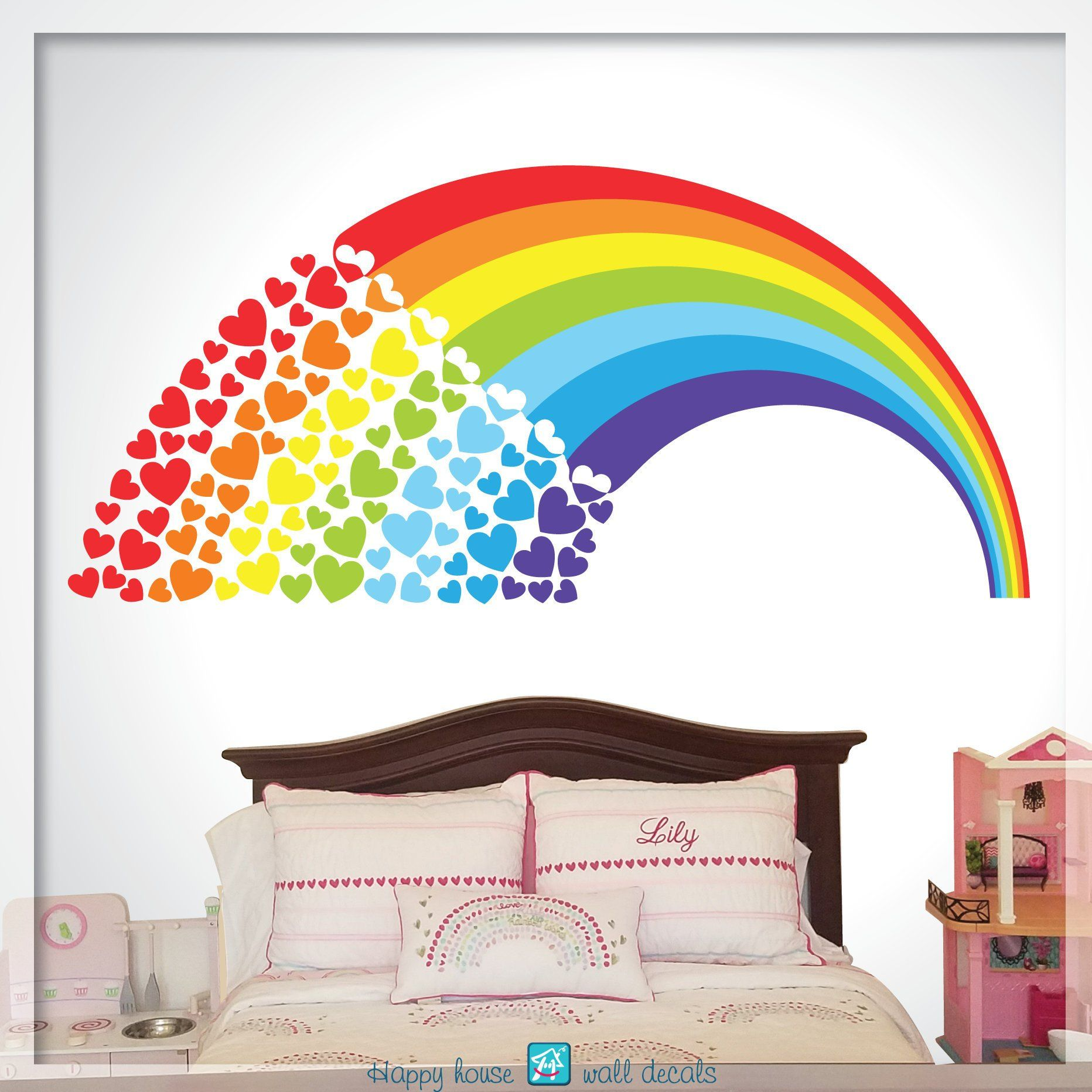 Rainbow Wall Decal Rainbow Decor Rainbow Decal Rainbow Sticker