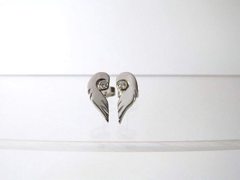 18ct white gold and diamond Angel earrings www.jencunningham.co.uk
