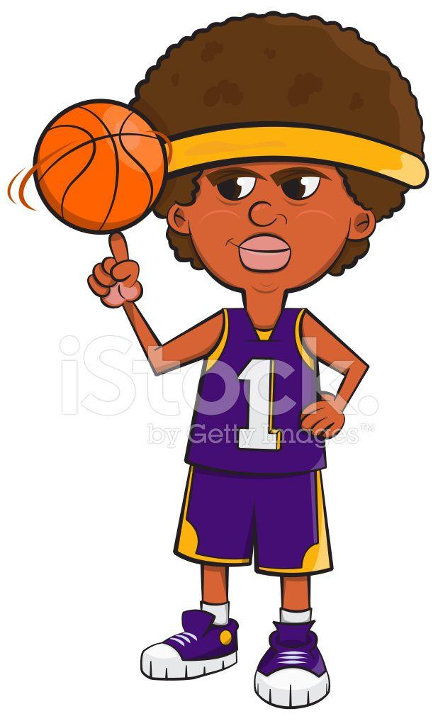 Dibujos Animados De Jugador De Baloncesto Afro Fotos De Archivo Freeimages Com Jugadores De Baloncesto Dibujos Animados Baloncesto