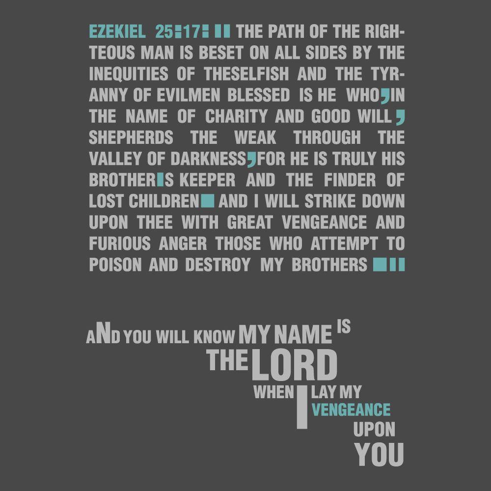 Pulp Fiction Wallpaper X WallpaperUP. Ezequiel 25:17