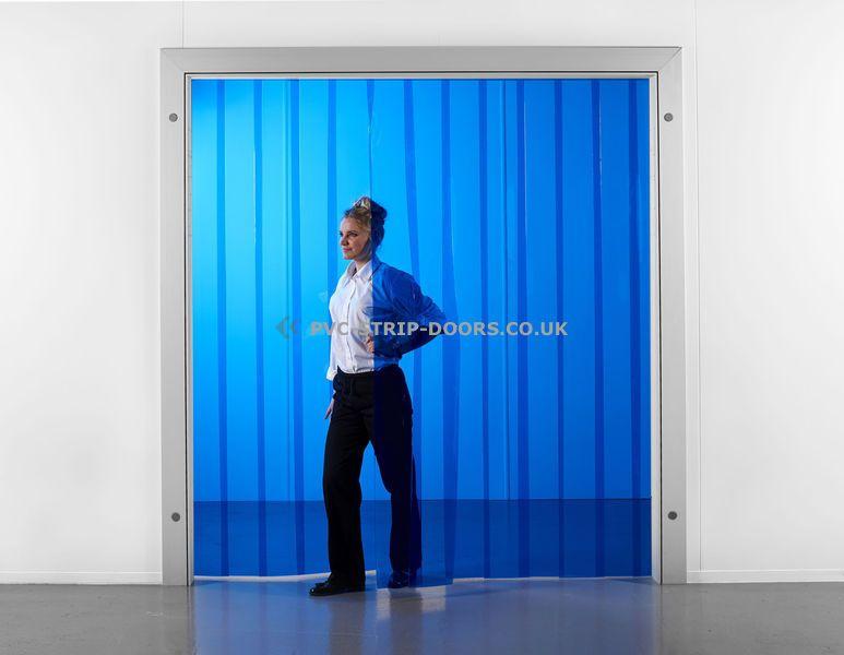 200x2mm Transparent Blue Pvc Strip Curtain Strip Curtains