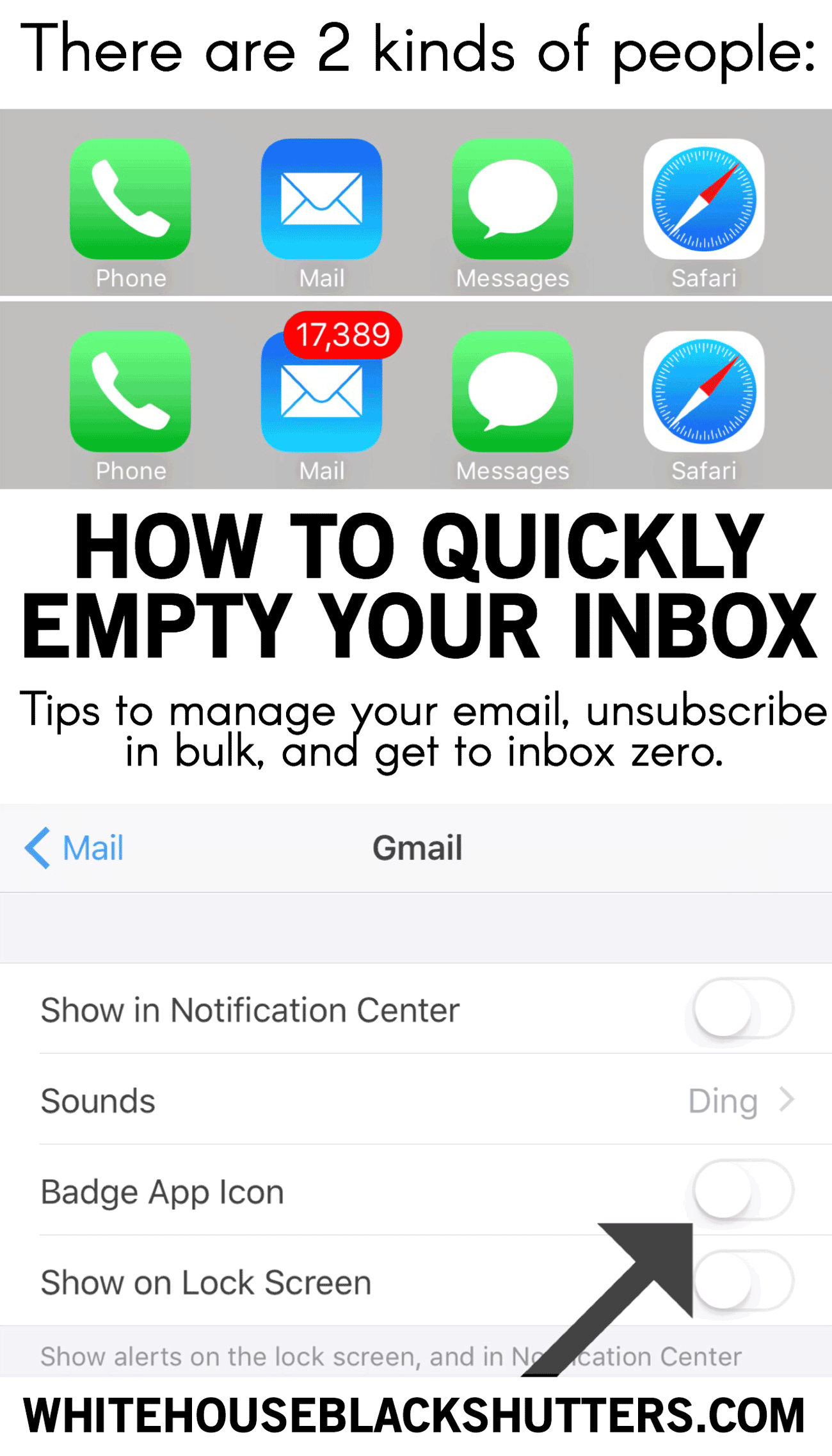 "How to Quickly ""Empty"" Your Email Inbox white house"