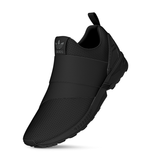 the latest 02872 e664c Lightweight and streamlined, the mi ZX Flux Slip-On swaps ...