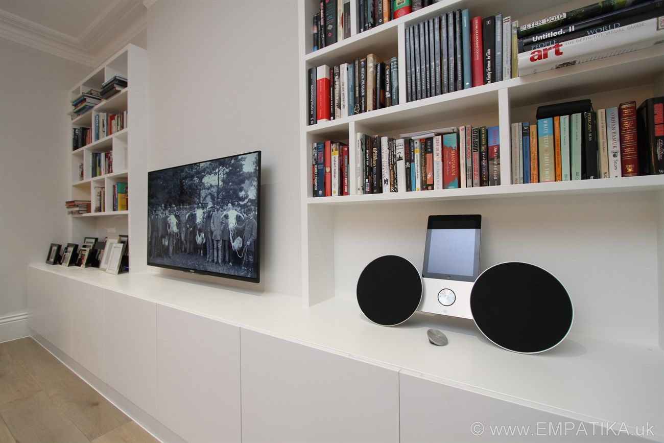 These Are Contemporary Style Media Wall Units Built From