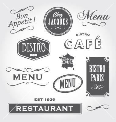 Vintage Signs French Restaurant Vector Image On Vectorstock Cafe Sign French Restaurants French Font