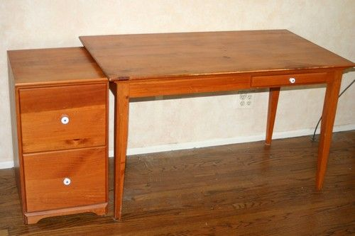 Yield House Pine Desk And File Cabinet Listing 221309