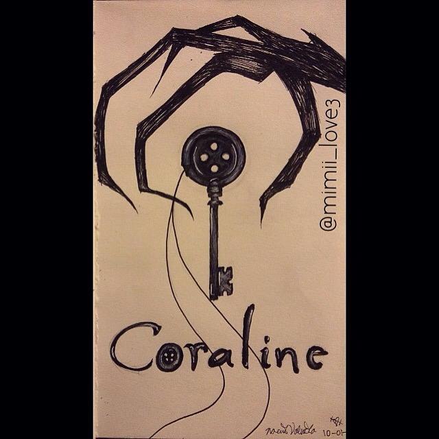 Inktober Day 1 Coraline Button Key Coraline Drawing Tim Burton Art Coraline Art
