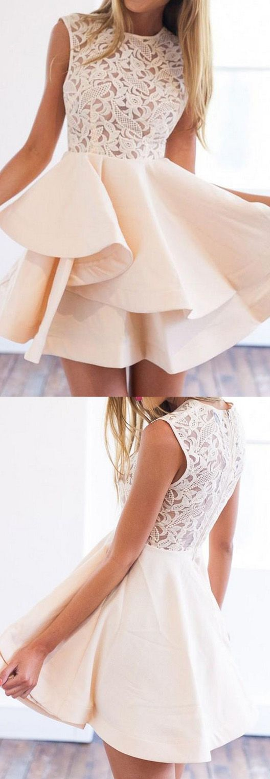 Customized mini prom homecoming dress short champagne dresses with
