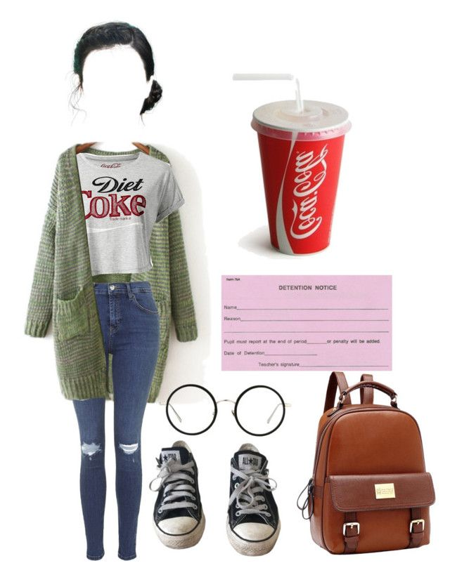 """[ ohshc ] Detention"" by haruhii ❤ liked on Polyvore featuring Topshop, Converse and Linda Farrow"