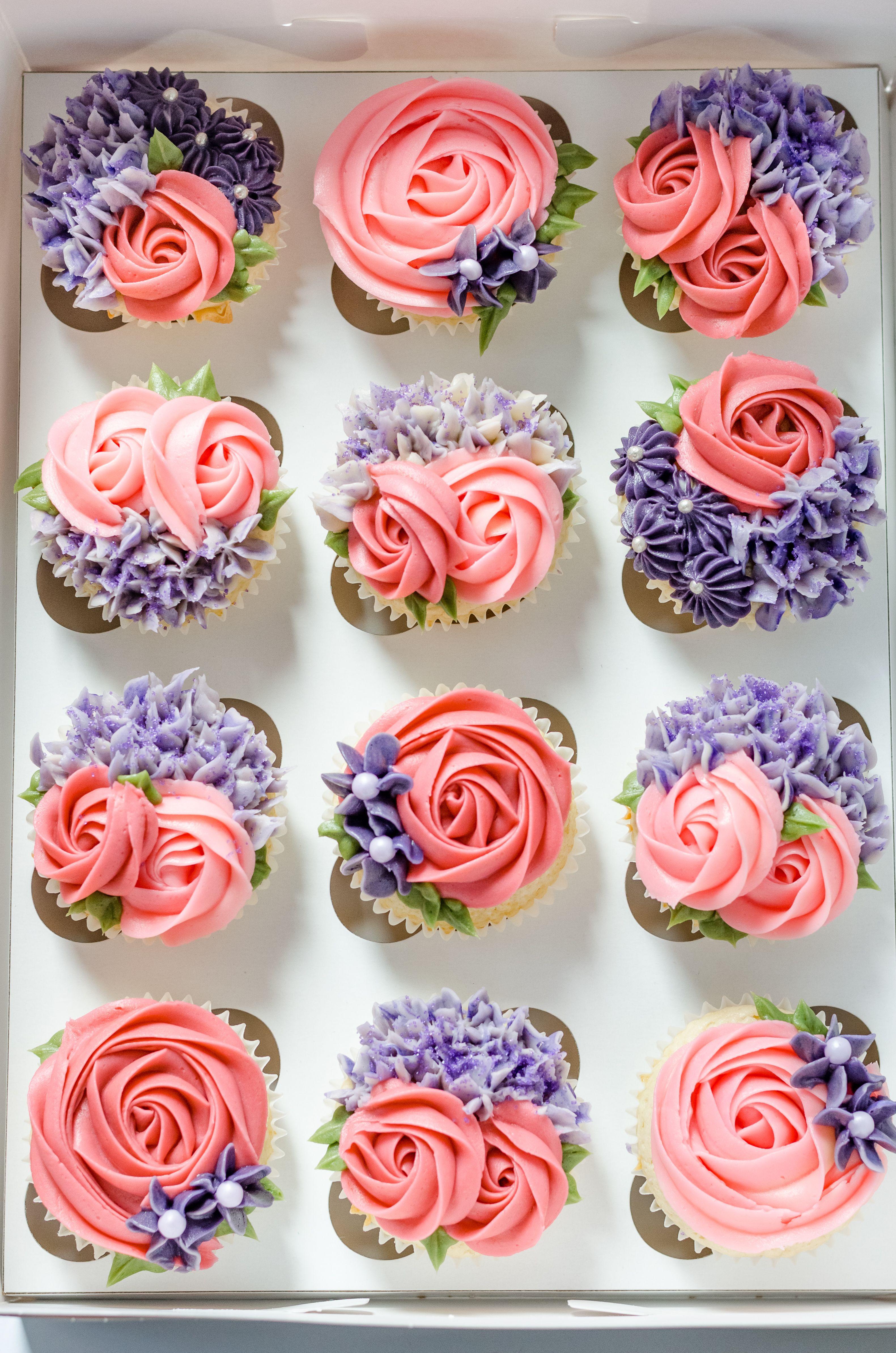 Flower cupcakes Decorating ideas | Fun cupcakes, Dessert ...