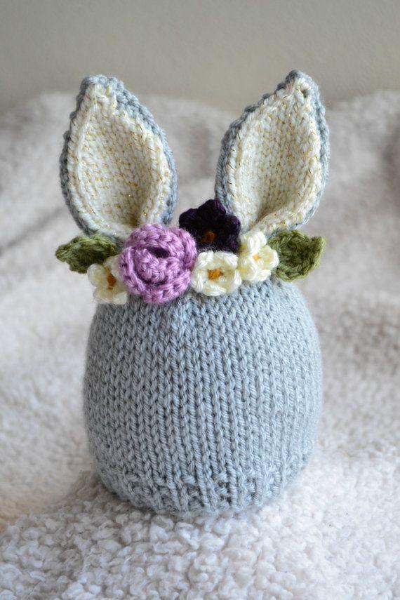 6-12 Months Bunny Hat - Bunny Floral Crown Hat - Purple Flower Hat ...