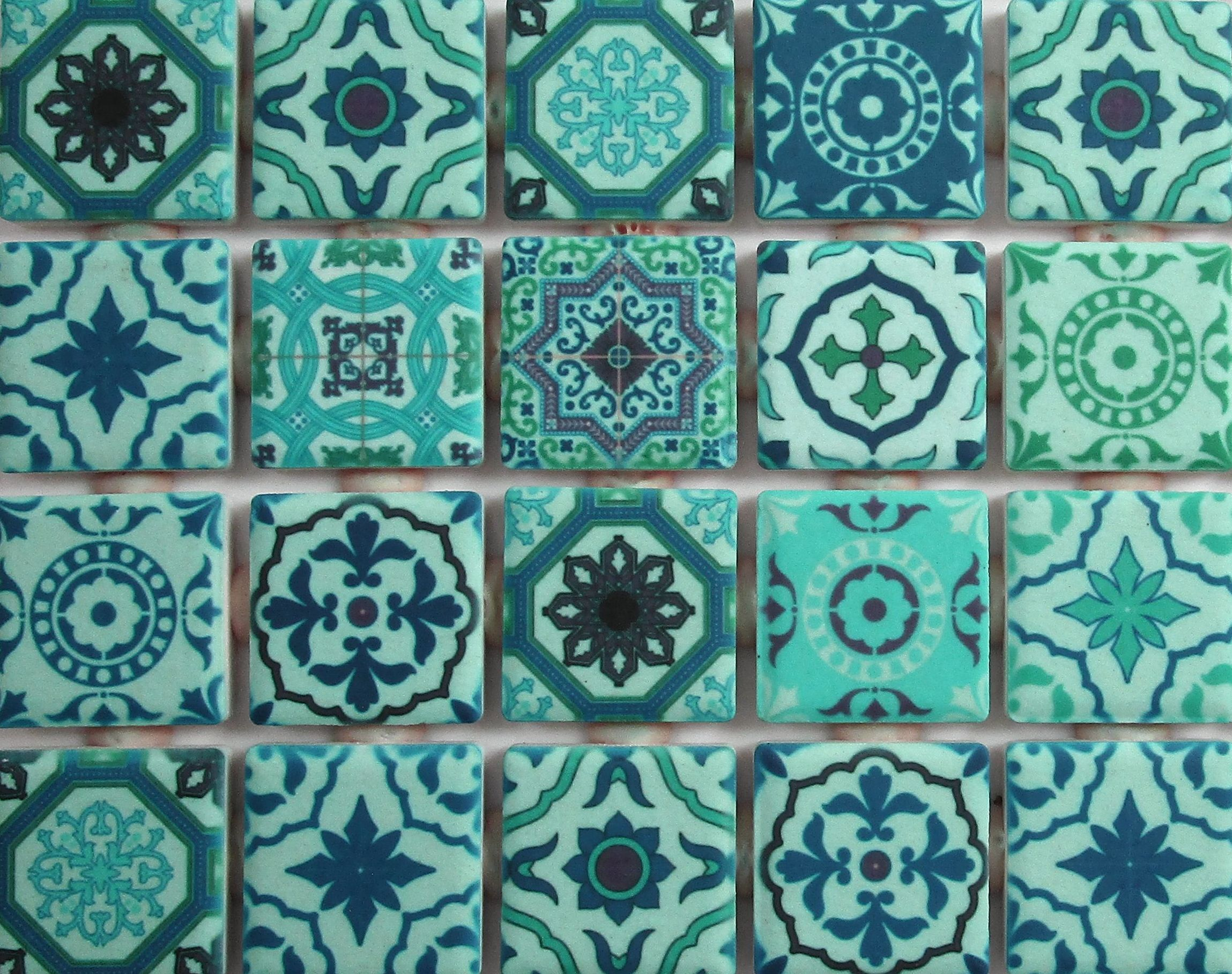 Ceramic Mosaic Tiles Patterned