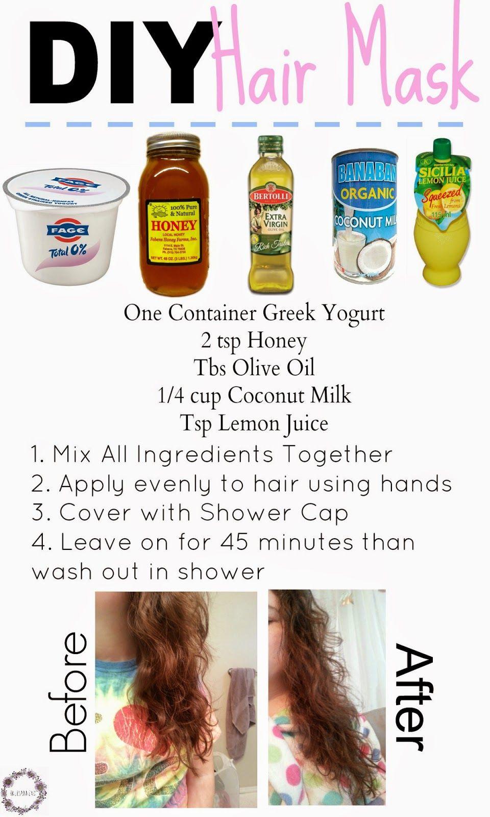 Diy Hair Mask Diy Hair Mask Lemon Juice Hair Yogurt Hair Mask
