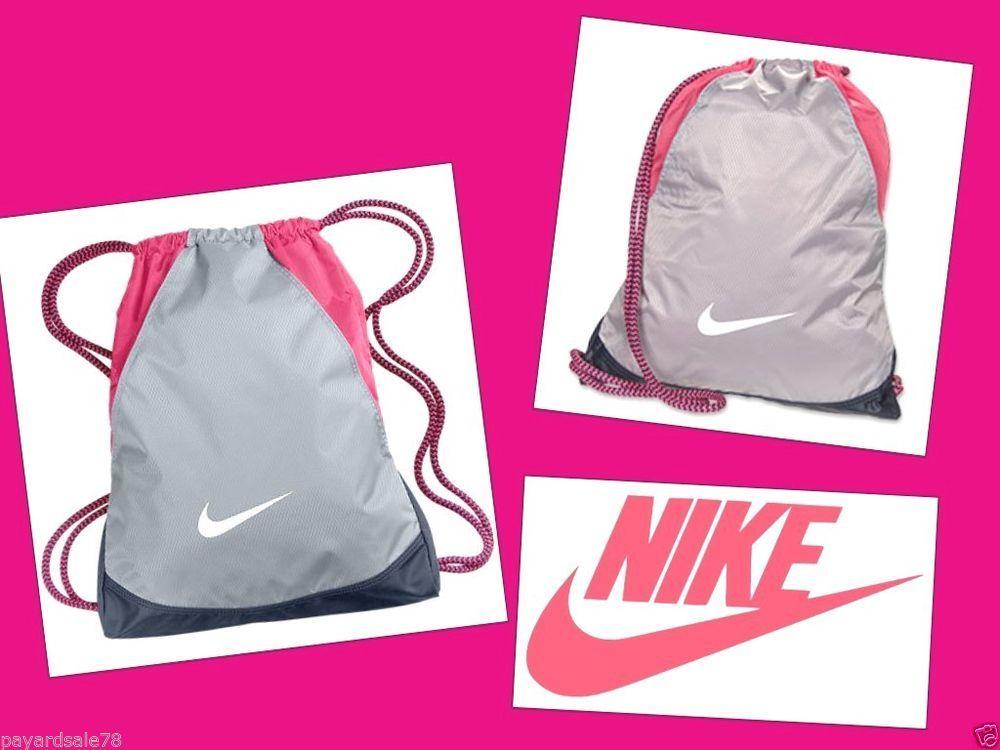 Nike vapor gym sack back pack sports book bag volt red backpack ...