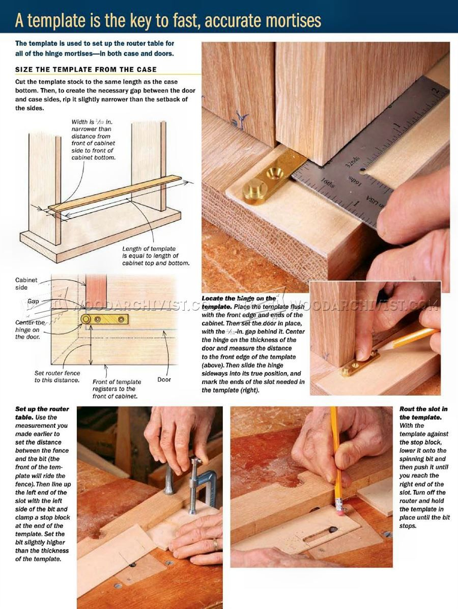 How To Install Knife Hinges   Cabinet Door Construction
