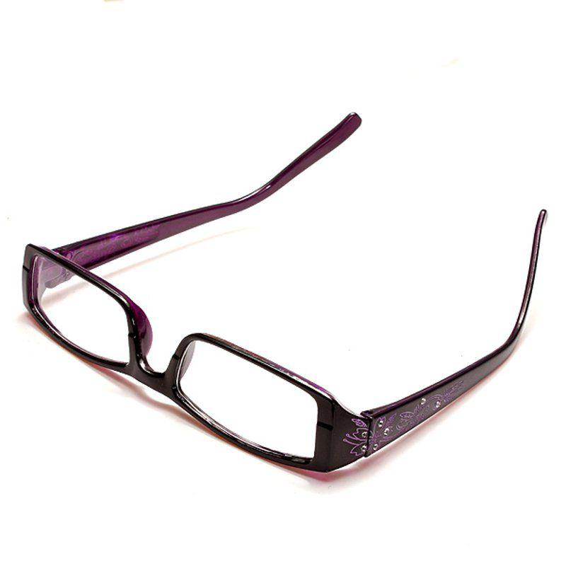 Púrpura presbicia gafas de lectura femenina del marco de las lentes ...