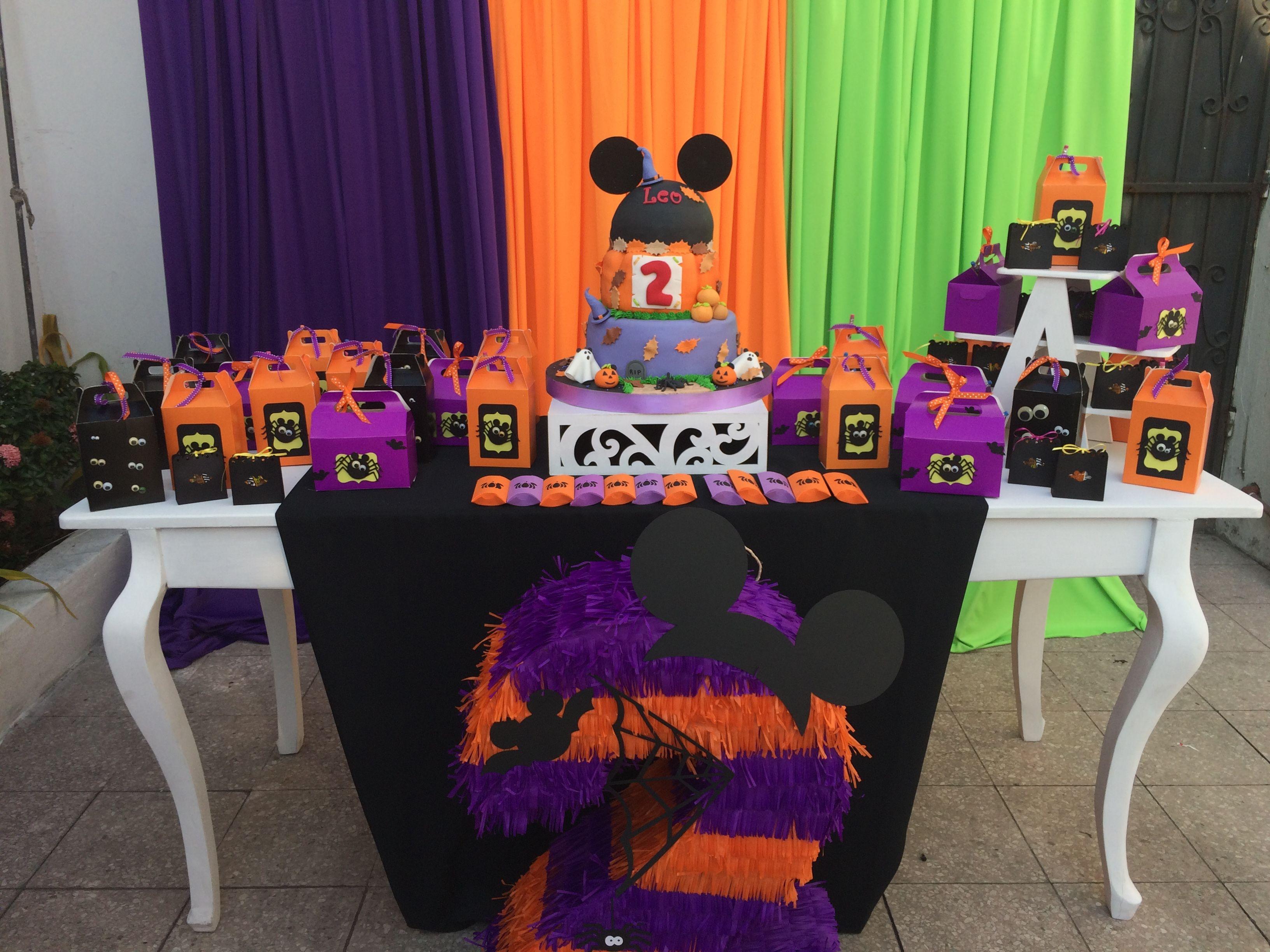 Candy Table Decorations Halloween 1st Birthdays Halloween First Birthday Birthday Halloween Party